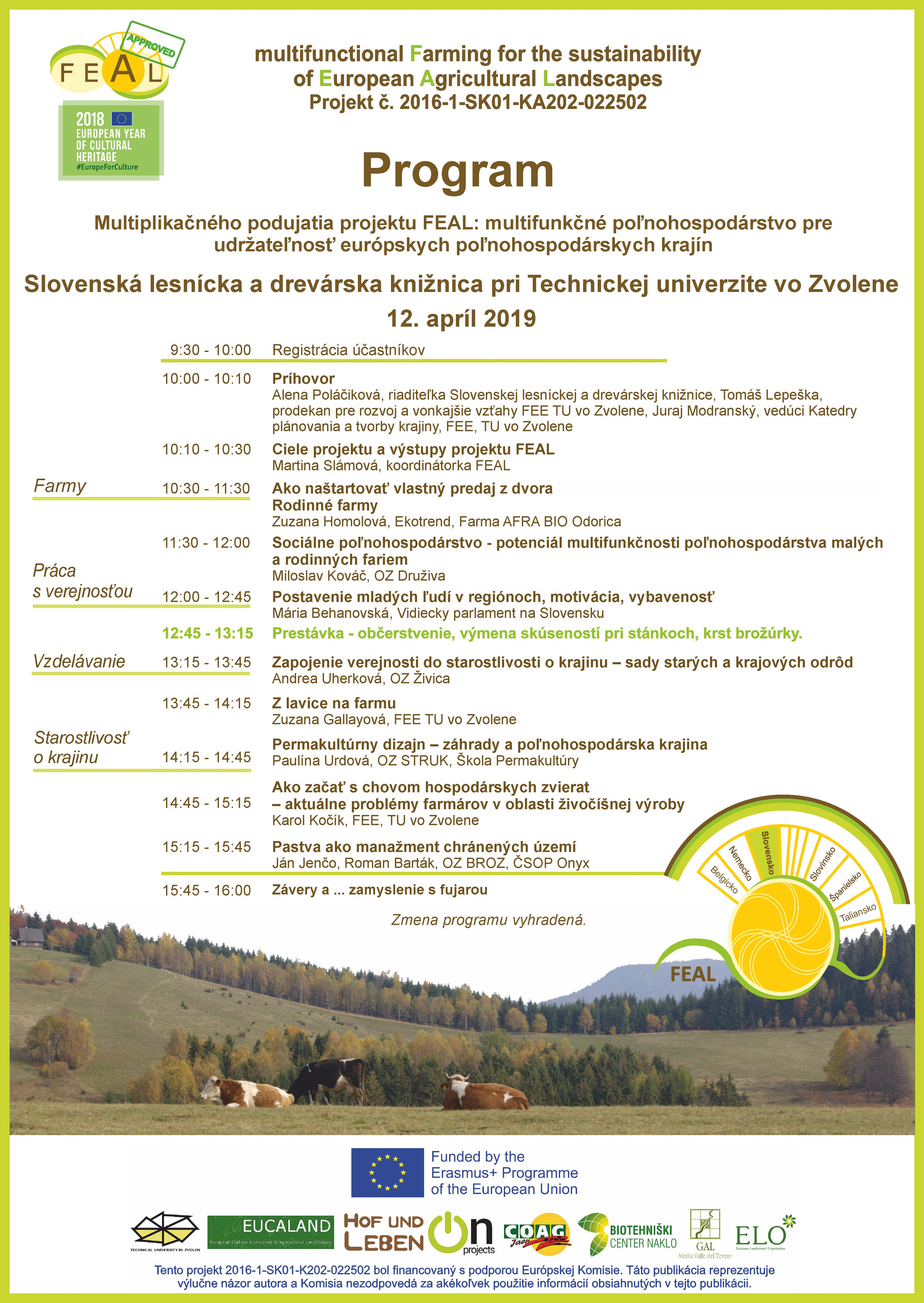 Program FEAL 12 April SLDK Zvolen