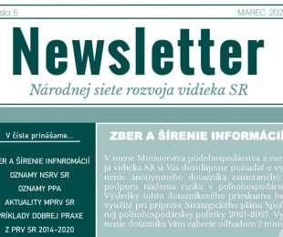 NEWSLETTER Národnej siete rozvoja vidieka SR | 05/2020