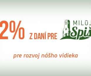 Darujte 2 % z dani na podporu rozvoja vidieka