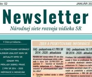 NEWSLETTER Národnej siete rozvoja vidieka SR | 02/2021