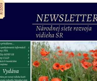 NEWSLETTER Národnej siete rozvoja vidieka SR | 8/2019