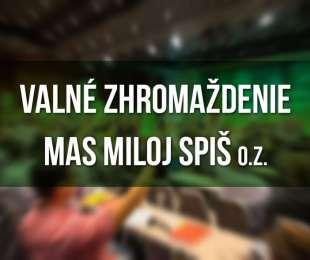 Pozvánka na Valné zhromaždenie MAS Miloj Spiš | 10.12.2019