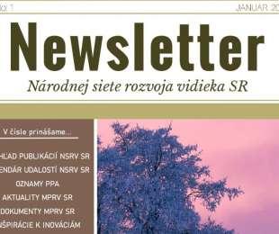 NEWSLETTER Národnej siete rozvoja vidieka SR | 01/2020