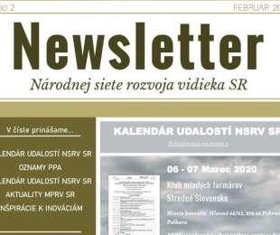 NEWSLETTER Národnej siete rozvoja vidieka SR | 02/2020