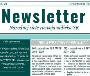 NEWSLETTER Národnej siete rozvoja vidieka SR | 21/2020