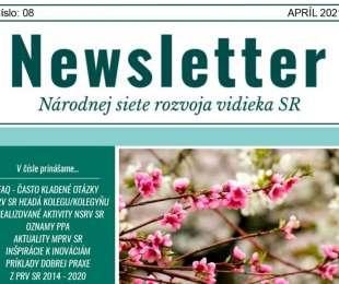 NEWSLETTER Národnej siete rozvoja vidieka SR   08/2021