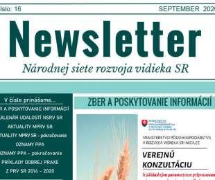 NEWSLETTER Národnej siete rozvoja vidieka SR | 16/2020