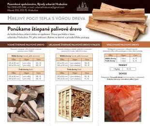 Ponuka predaja štiepaného dreva   Pozemkové spoločenstvo, Bývalý urbariát Hrabušice