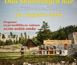 Deň Slovenských hôr - Kláštorisko - areál Kartuziánskeho Kláštora - Slovenský raj | 30.8.2020