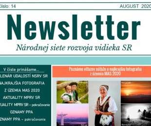 NEWSLETTER Národnej siete rozvoja vidieka SR | 14/2020