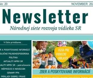 NEWSLETTER Národnej siete rozvoja vidieka SR | 20/2020