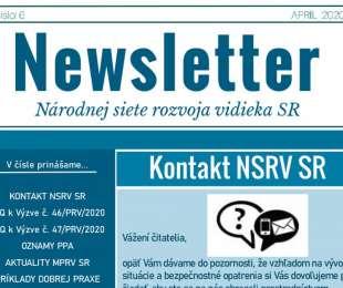 NEWSLETTER Národnej siete rozvoja vidieka SR | 06/2020