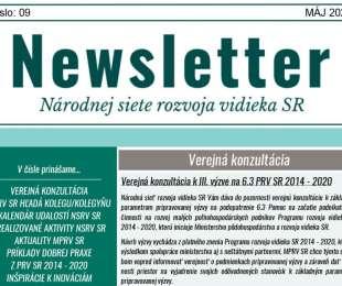 NEWSLETTER Národnej siete rozvoja vidieka SR | 09/2021