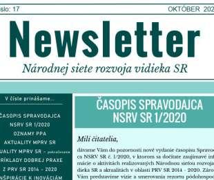 NEWSLETTER Národnej siete rozvoja vidieka SR | 17/2020